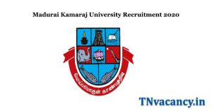 Madurai Kamaraj University Recruitment 2020