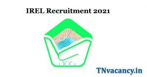 IREL Recruitment 2021